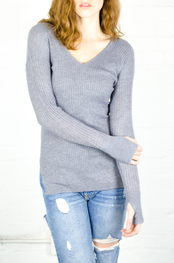 Heartloom Fog Evie Sweater