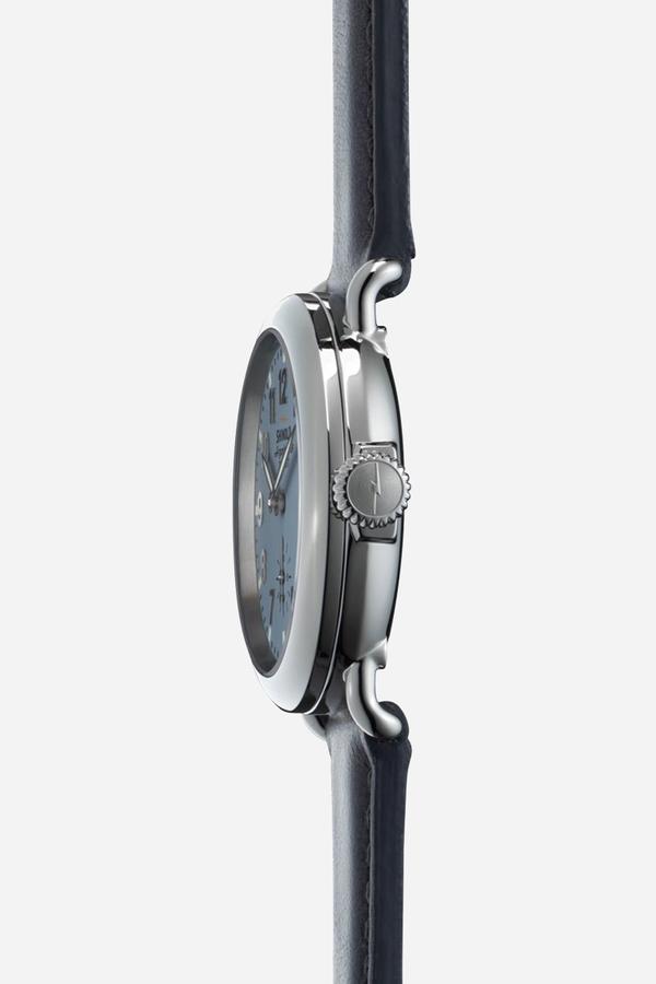 Shinola The Runwell 36mm in Slate blue & Slate grey