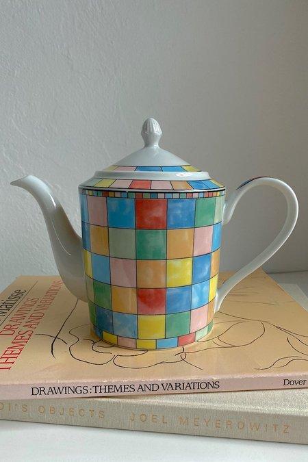Casa Cuadra Vintage Ceramic Teapot - Multicolor