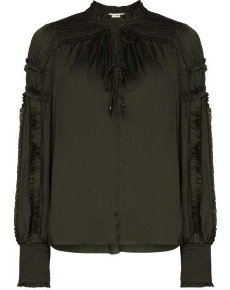 Ulla Johnson Fernanda Blouse - Forest Green