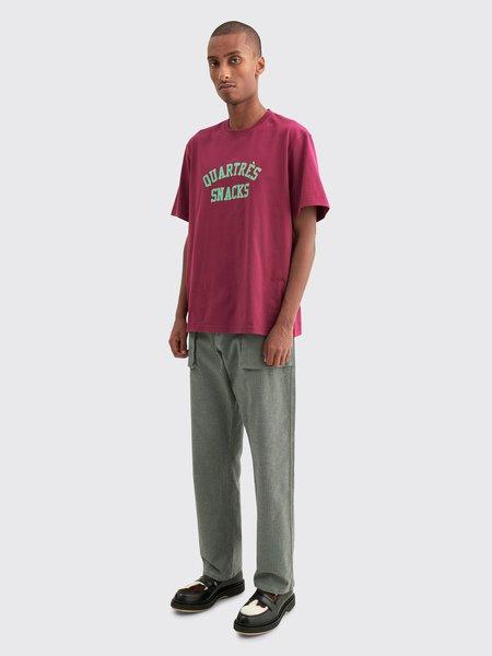Tres Bien Fatigue Herringbone Twill Trousers - Grey