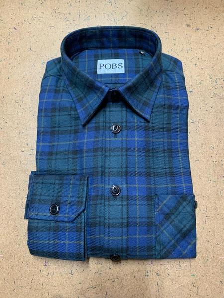 Product Of Bob Scales Shop Shirt - Blue/Green Plaid