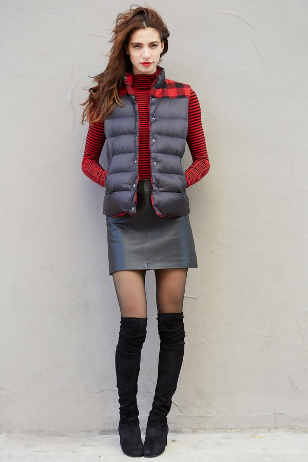 BB Dakota Steward Plaid Reversible Puffer Vest