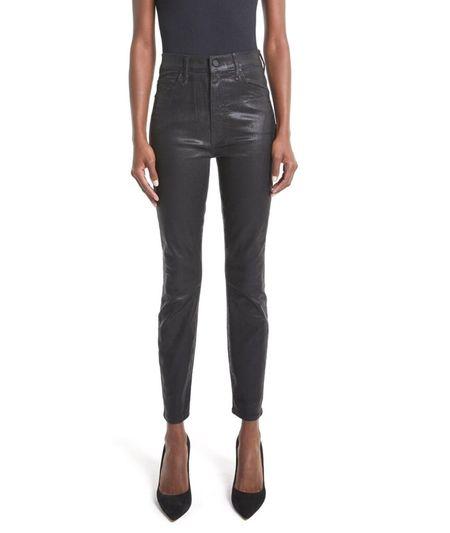 Mother Denim The Swooner Ankle Skinny Jeans - Black