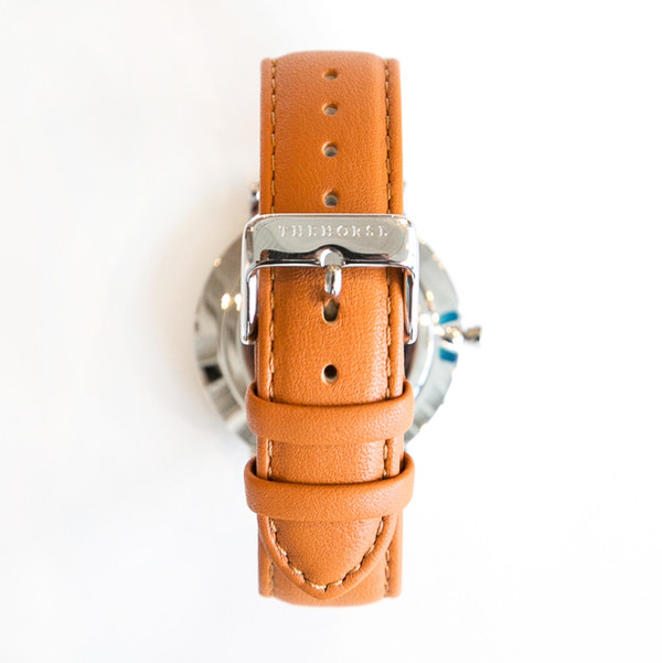 The Horse B3 Classic Polished Steel Tan Band