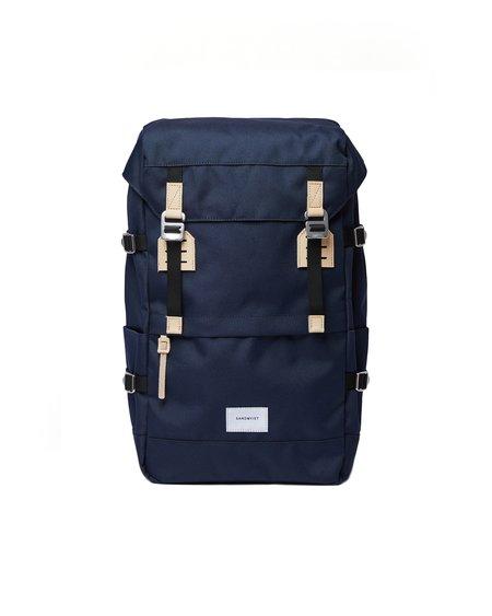 Sandqvist Harald Natural Leather Backpack - Navy