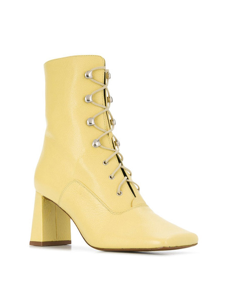 By FAR Lace-up Ankle Boots - Yellow