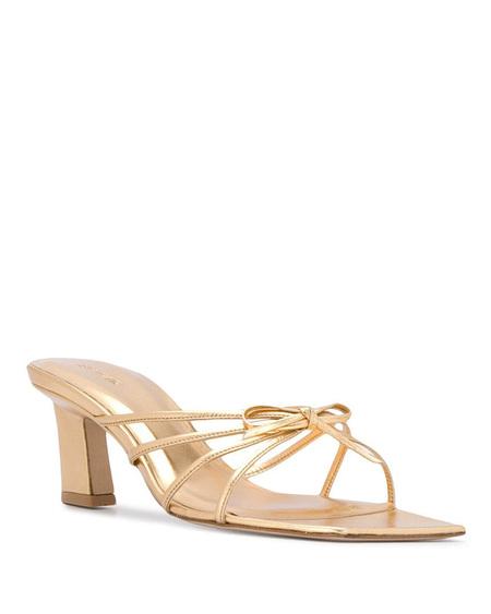 By FAR Melissa Metallic Sandals - Gold