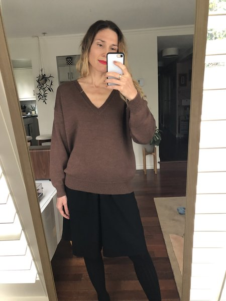MILA ZOVKO EMMA Sweater - Heather Brown