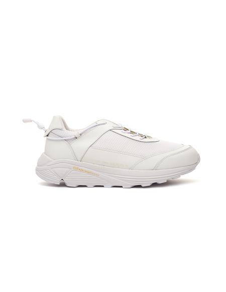 Comme des Garcons Homme plus White Leather Vibram Sole Sneakers