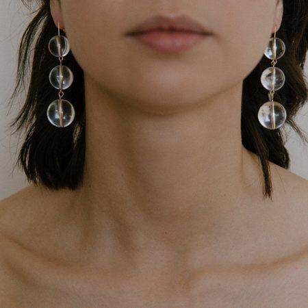 Vermeer Studio Selma Drop Earrings - 14k Gold