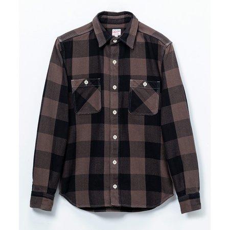 Momotaro Jeans Herringbone Check Shirt - Brown
