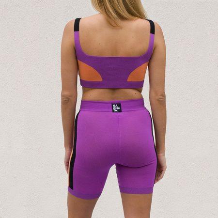 Nagnata Triad Biker Short - Purple Haze / Ochre