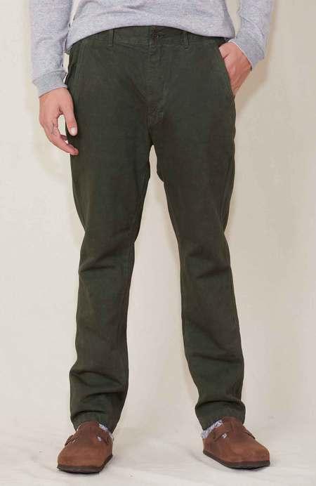 Sage de Cret Tapered Cotton Linen Pants - Khaki