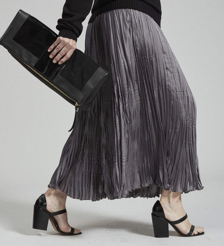 Rachel Comey Oates Pleated Skirt - Charcoal
