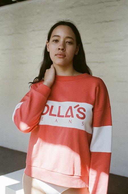 Rollas ROLLA'S Logo Split Sweatshirt – Faded Red
