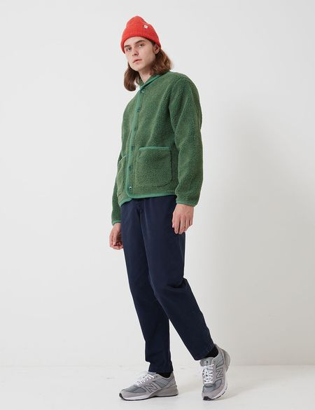 Bhode Fleece Work Jacket - Sage Green