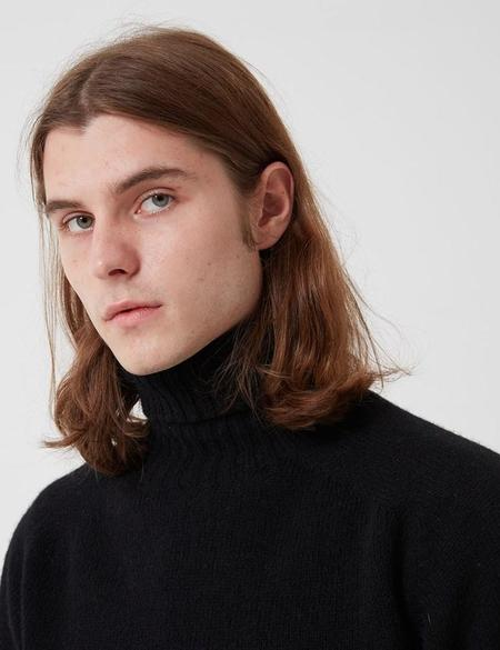 Bhode Lambswool Roll Neck Jumper sweater - Black