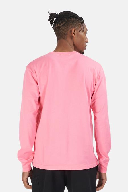 Stone Island Chest Logo Long Sleeve Tee Shirt - Cyclamen