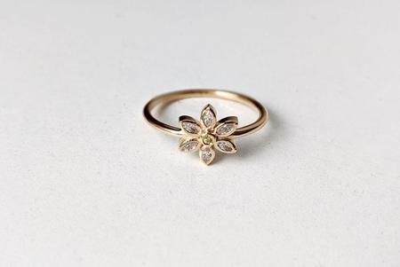 Little Gold Daisy Ring - Gold vermeil