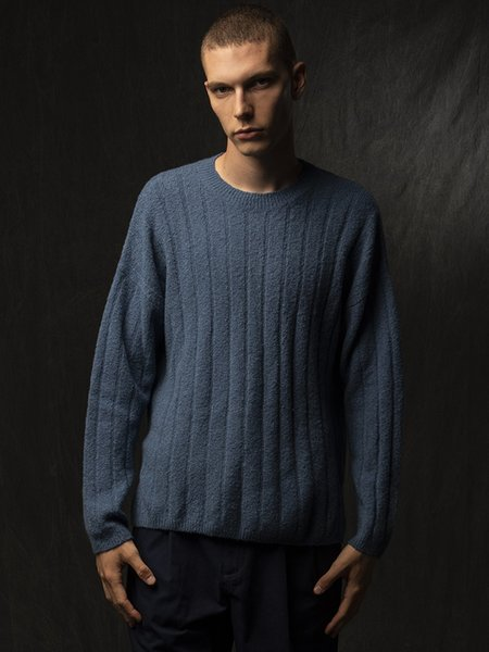 Pure Cashmere NYC Cashmere Boucle Sweater - Daydream