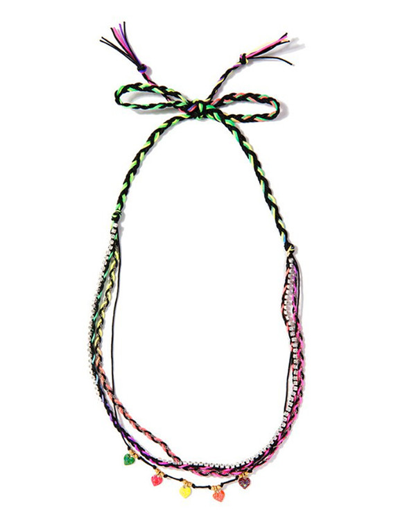 Venessa Arizaga Rainbow Heart Necklace