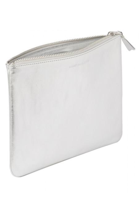 Comme des Garçons Leather SA-5100 Lg Zip Pouch - Silver