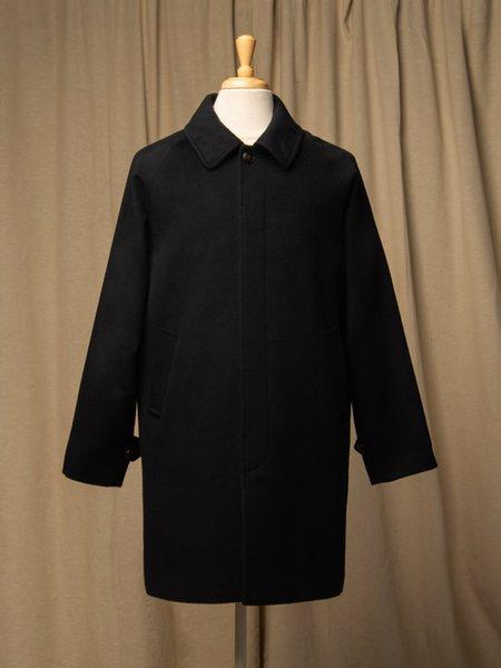 Pure Cashmere NYC Men Balmacaan Coat - Dark Navy