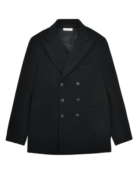 Pure Cashmere NYC Men Tailored Double Breasted Jacket - Black