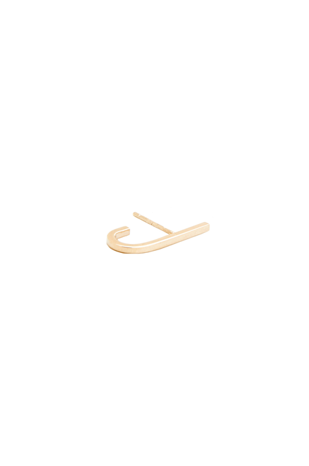 In God We Trust NYC Jay Stud, 14K Yellow Gold