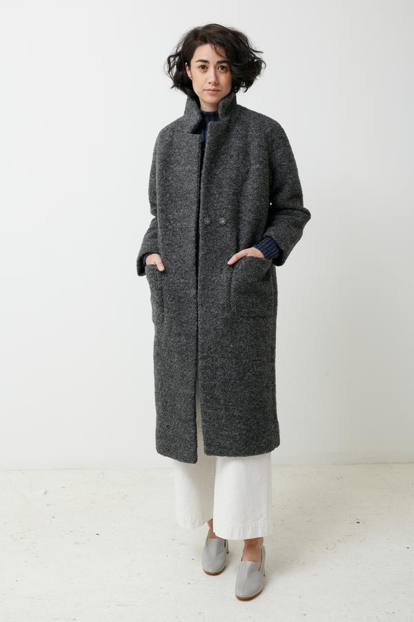 Ganni Fenn Coat - pearl grey
