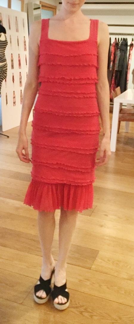 Fuzzi tiered ruffle dress - pink