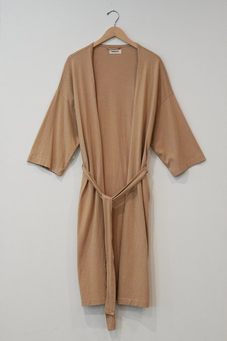 a mente Cotton Knit Robe - Beige