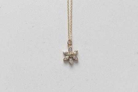 Little Gold Daisy Necklace - Gold-filled