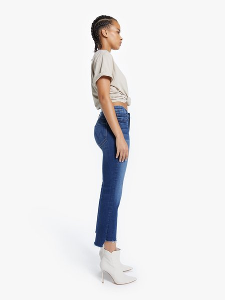 Mother Denim The Insider Crop Step Fray Jean - Sweet and Sassy
