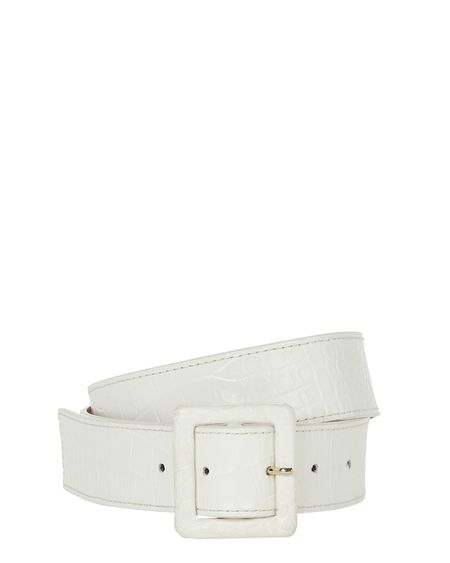 Veronica Beard Rossi Emb Croco Belt