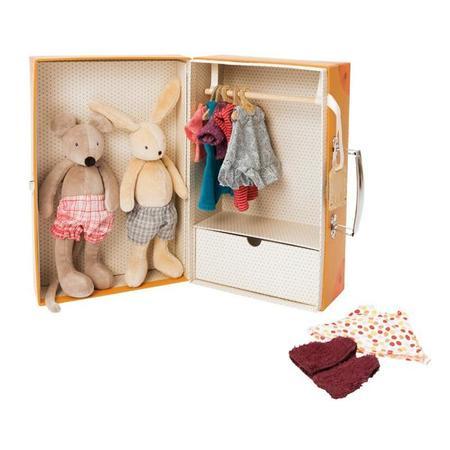 Kids Moulin Roty La Grande Famille Little Wardrobe Suitcase