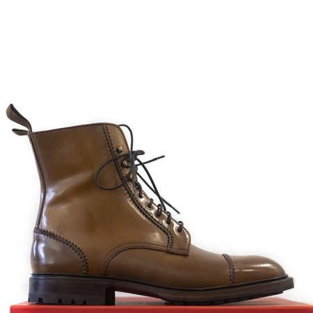 Carmina Bourbon Shell Cordovan Frankenstitch Boots Oscar Last