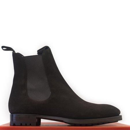 Carmina Brown Suede Wholecut Chelsea Boots Inca Last
