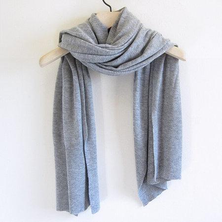 UNISEX Dinadi merino edge rib scarf - flint