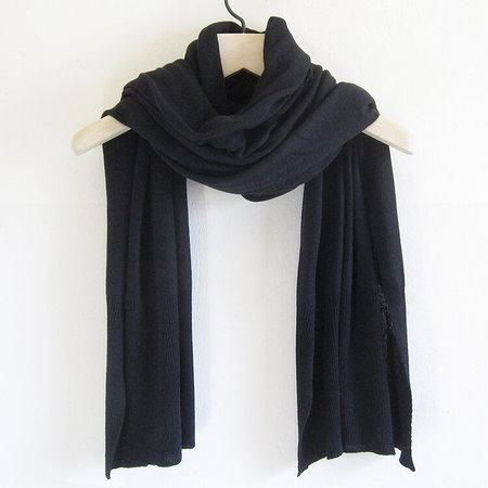 UNISEX Dinadi merino edge rib scarf - black