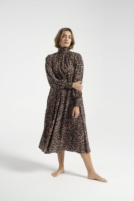 No.6 Reid Dress - Brown Jungle