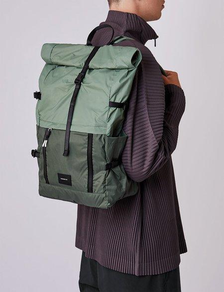 Sandqvist Bernt Lightweight Backpack - Dusty Green/Night Green