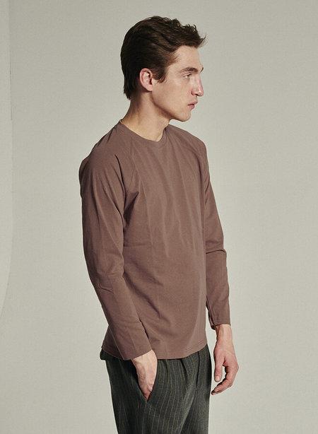 Delikatessen Organic Cotton Long Sleeve T-Shirt - Taupe
