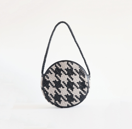 BIEN MAL Audrey Round Handbag - Check