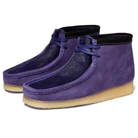 Clarks Wallabee Boot - Purple Interest
