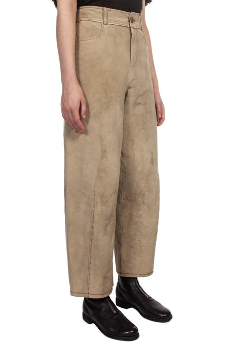 Phaedo High Waisted Work Trousers - Beige
