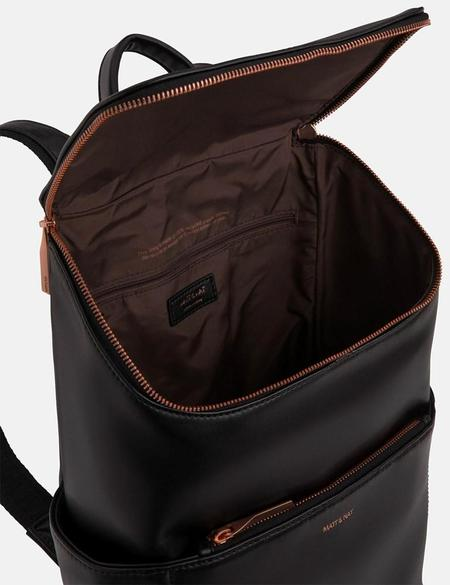 Matt & Nat Brave Vegan Leather Backpack  - Black/Rose/Gold