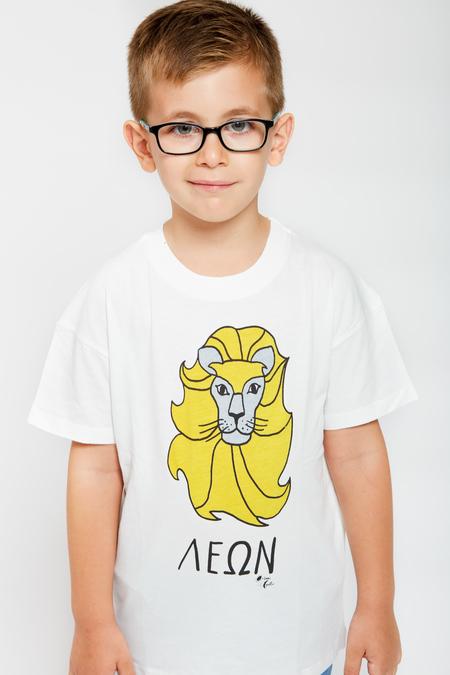 Kids ARTEMIS & APOLLON Lion T-Shirt - Yellow