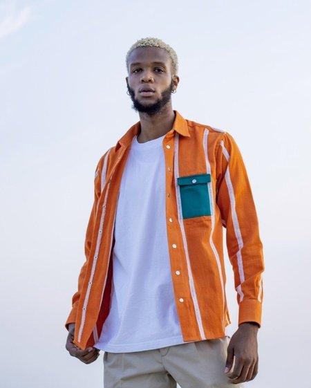 Kente Gentlemen Jojo IV Shirt -  Orange